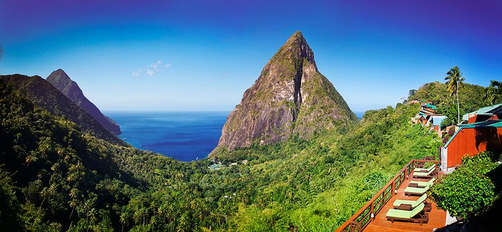 Piton Mountains panorama