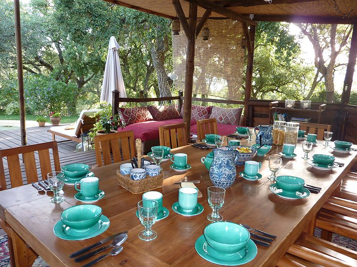 The Hoopoe Yurt Hotel breakfast
