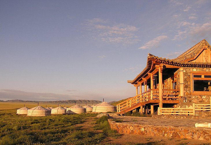Three Camel Lodge in the Gobi Desert