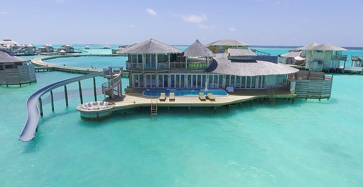 Soneva Jani Maldives 2 bedroom water retreat with water-slide to the ocean