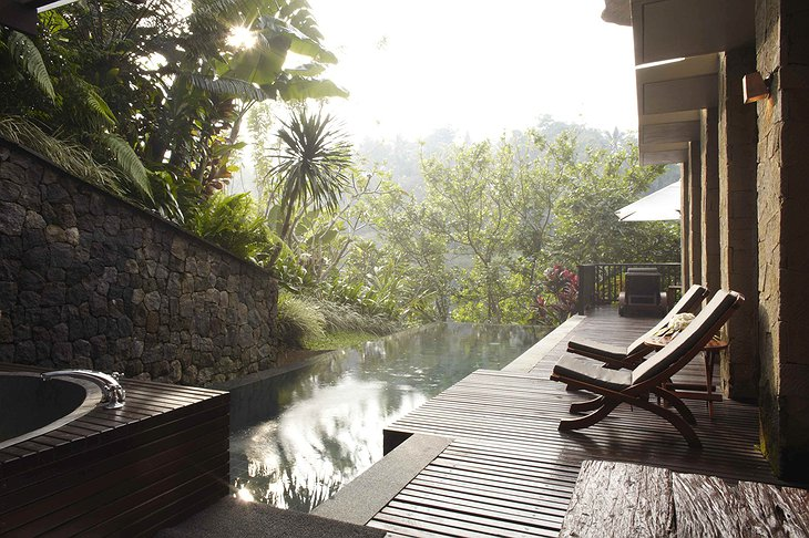 Maya Ubud Resort & Spa pool at duplex villa