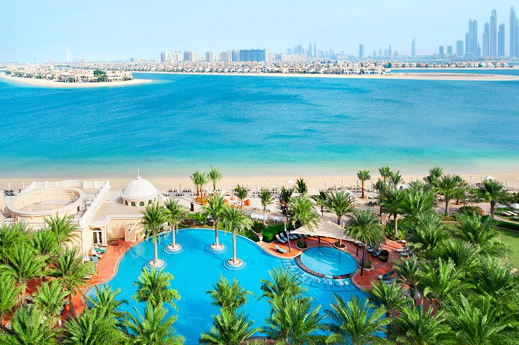 Kempinski Palm Jumeirah pools and sea view