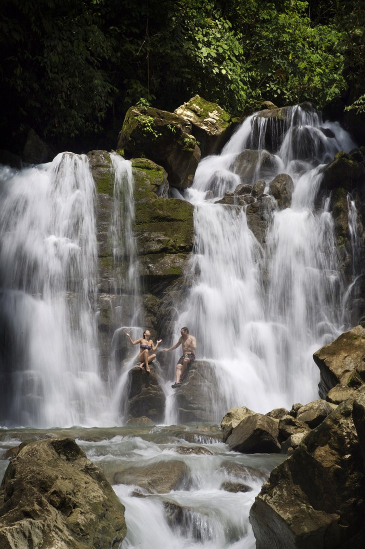 Couple in the waterfall