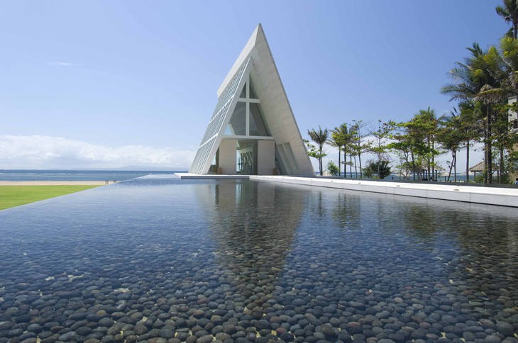 Conrad Bali infinity wedding chapel