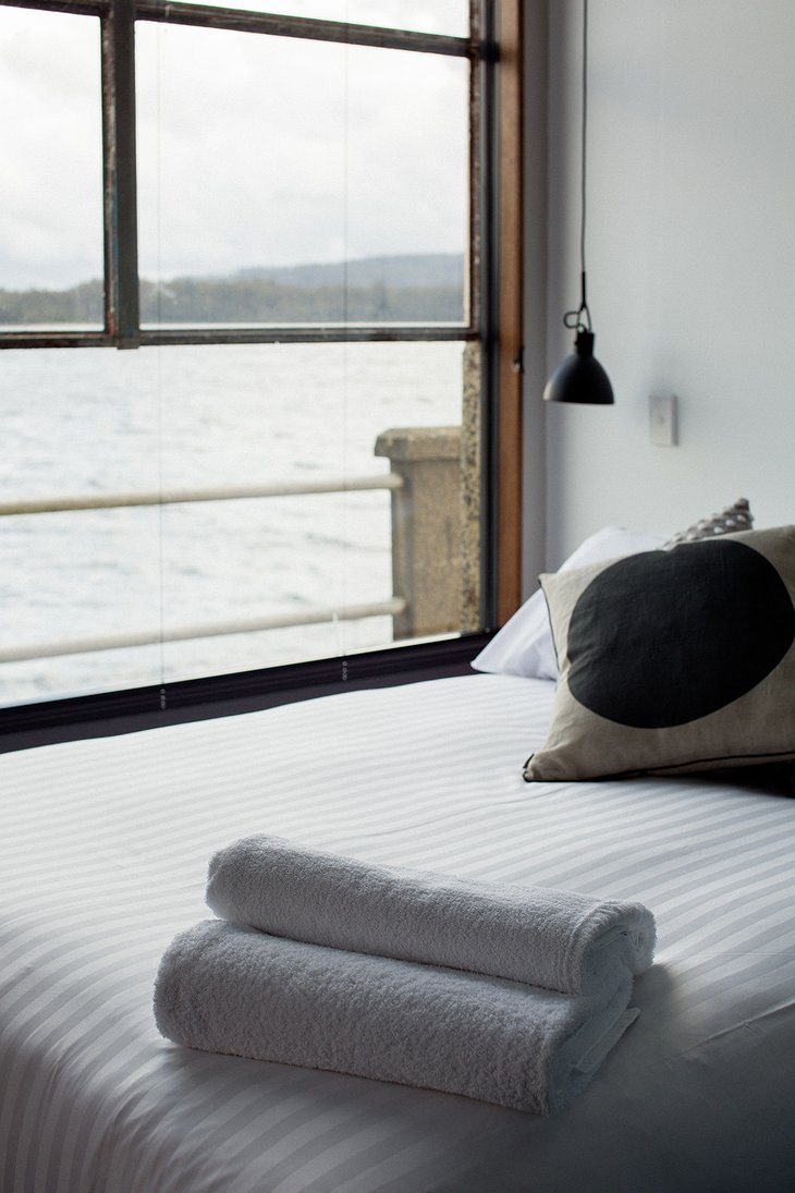 Pumphouse Point bedroom views