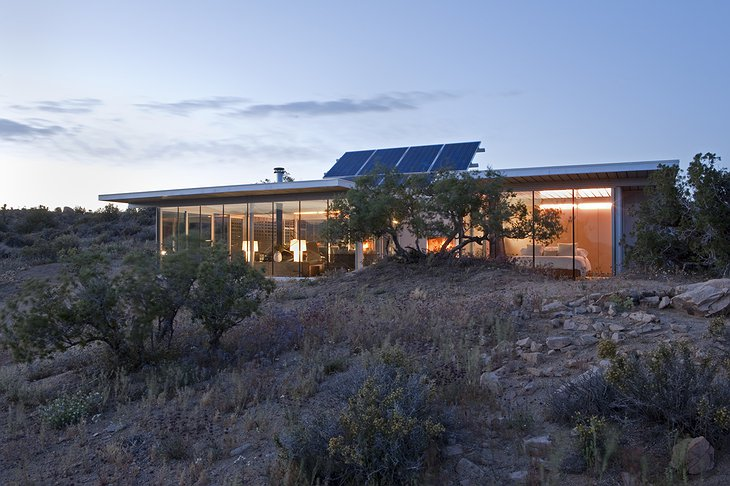 Off-grid itHouse at the evening