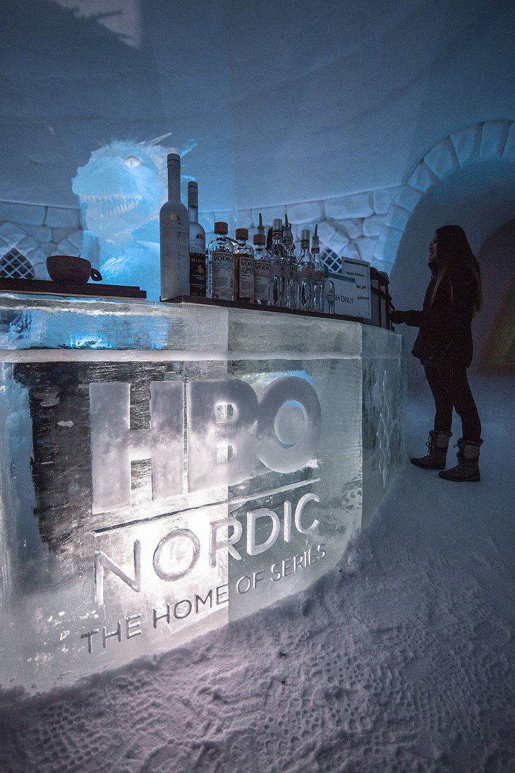 Lapland Hotels SnowVillage Ice Bar