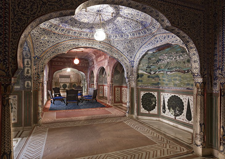 Samode Palace ornament tiles interior