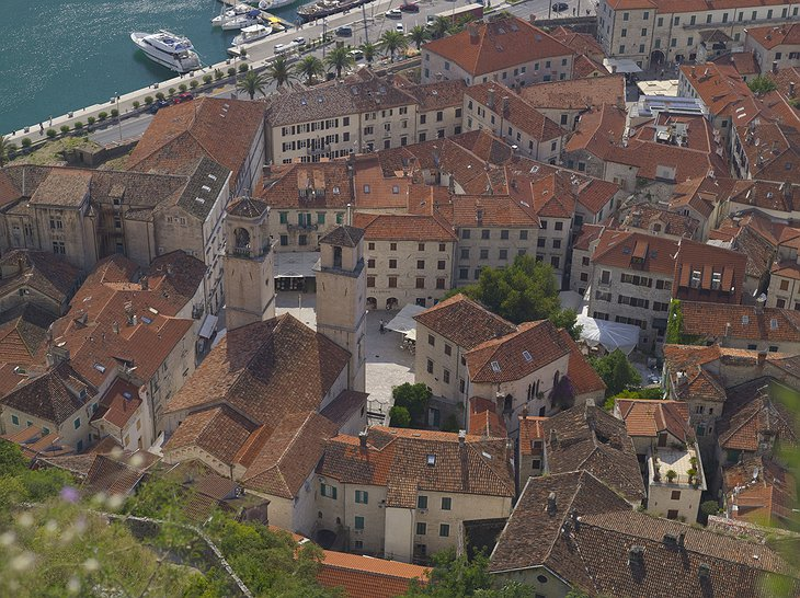 The town of Kotor, about 1,5 hours drive from Sveti Stefan
