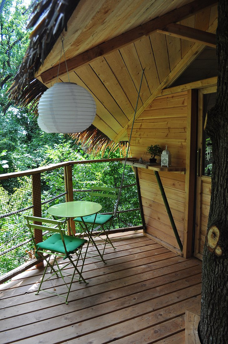 Tree house balcony