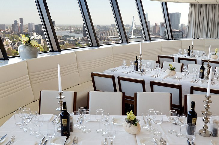 Euromast observation tower dining room