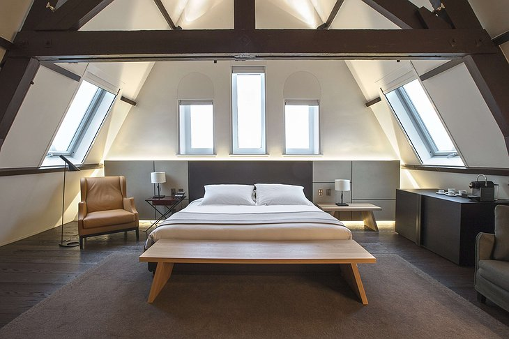 Conservatorium Hotel attic room