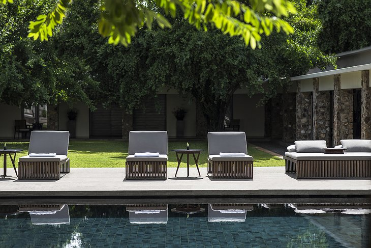 Amansara Resort Swimming Pool Loungers