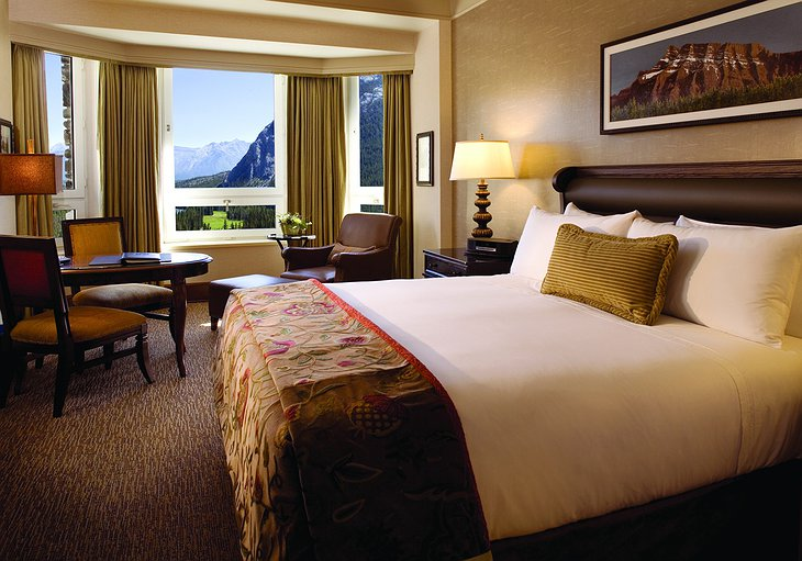 Fairmont Banff Springs Hotel room with mountain view