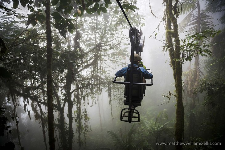 Sky bike in the jungle