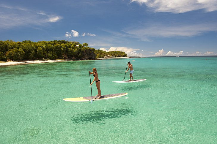 Mustique Island paddle board