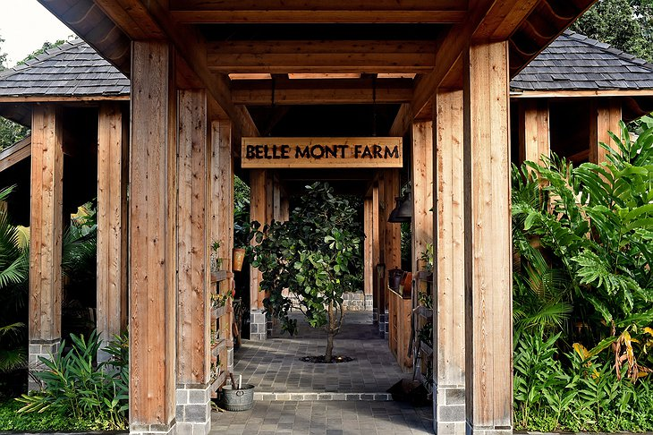 Belle Mont Farm entrance with sign