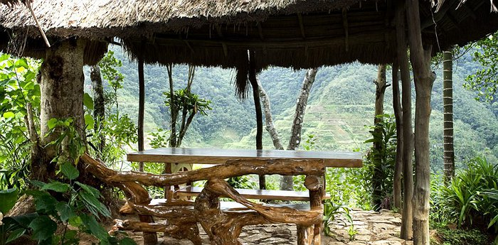 Native Village Inn Philippines - Bungalows with Panorama on Rice Terraces