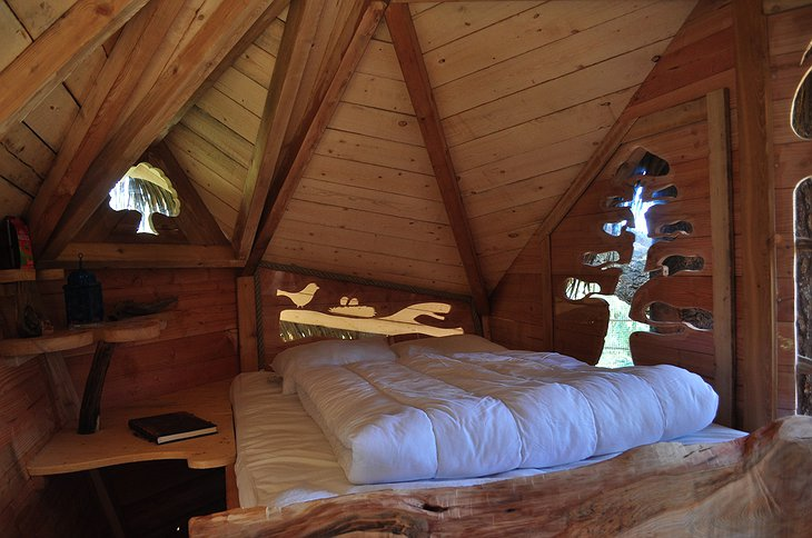 Couple tree house bed