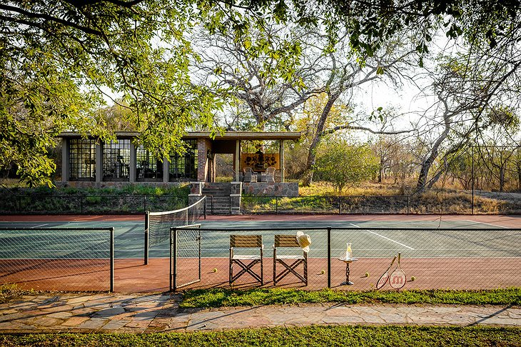 Singita Sasakwa Lodge tennis court