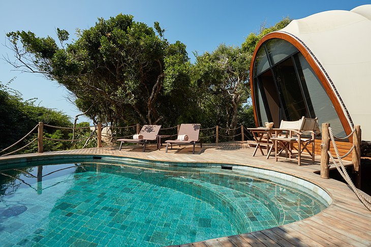 Wild Coast Tented Lodge cocoon pool