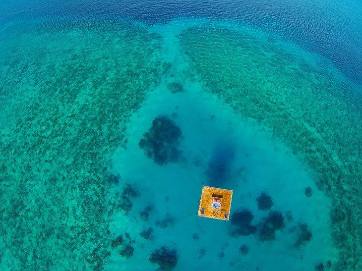 Floating room at The Manta Resort