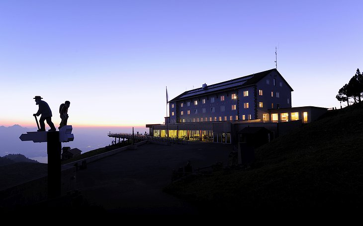 Rigi-Kulm Hotel at night