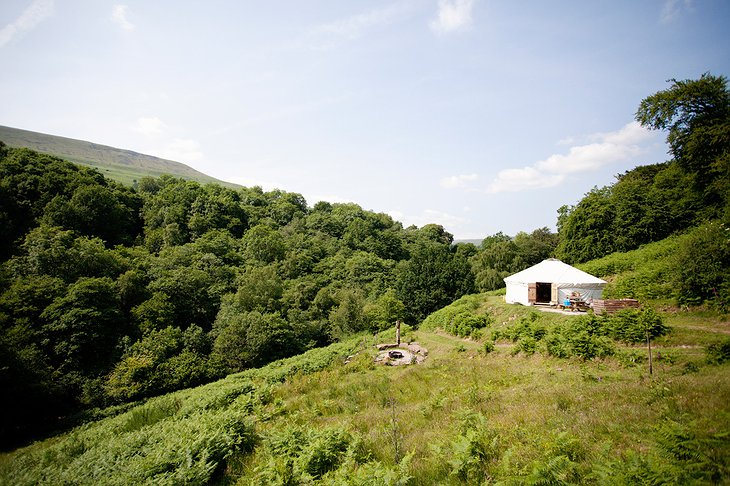 Black Mountains Yurt from far