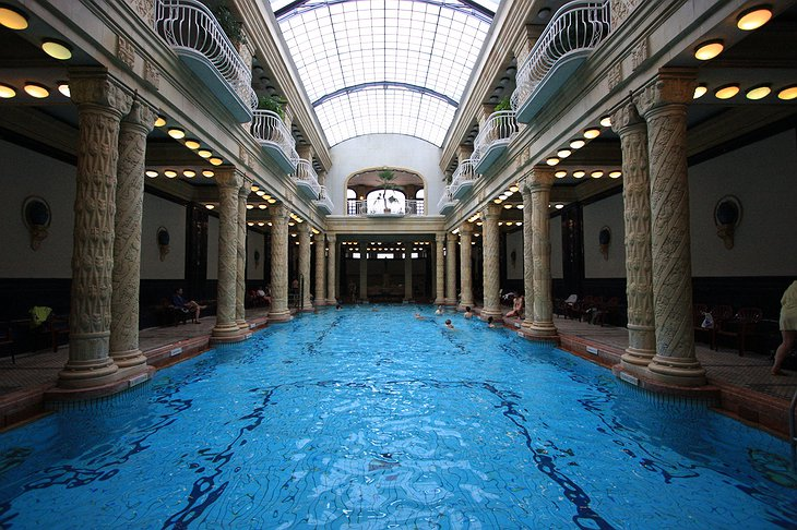 Gellert Spa interior swimming pool