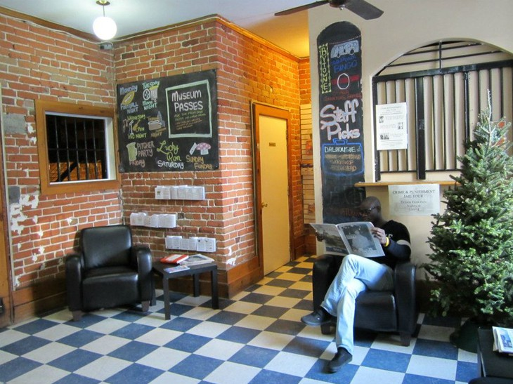 Ottawa Jail Hostel lobby