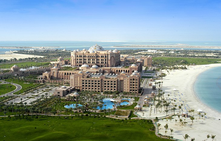 Emirates Palace from a helicopter