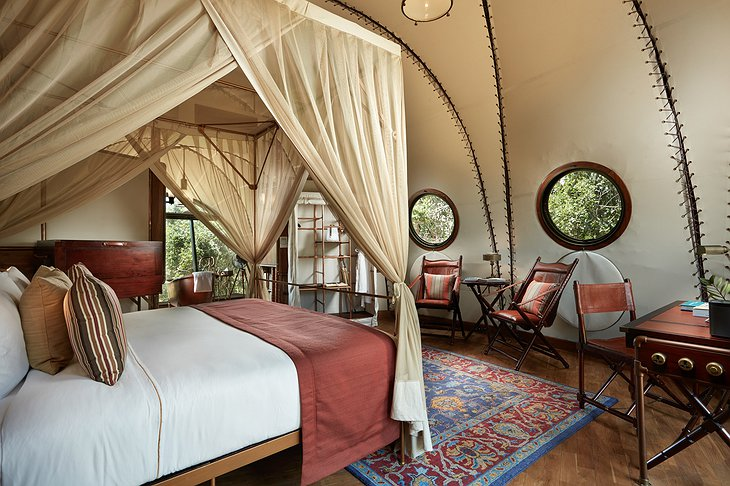 Wild Coast Tented Lodge cocoon bedroom