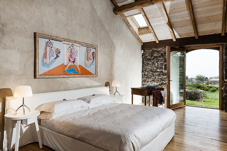 Monaci delle Terre Nere modern art painting on the wall in the room