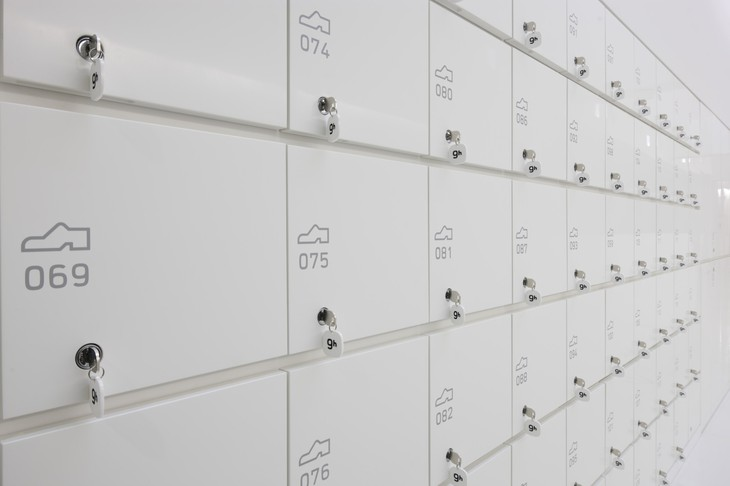 Lockers close-up