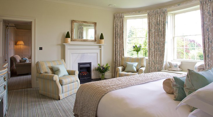 The Bath Priory Hotel Master Suite bedroom