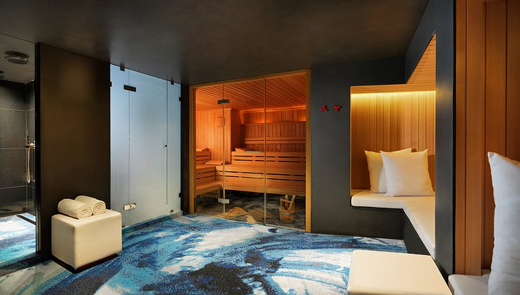 Andaz Amsterdam hotel Spa with saunas