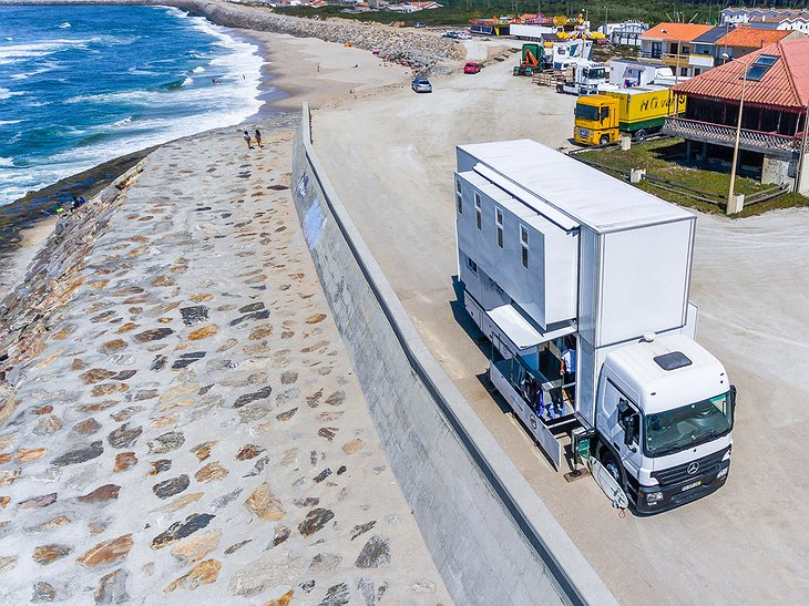 Converted Mercedes Actros at the beach