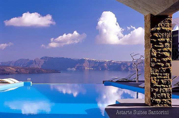 Santorini views from the infinity pool