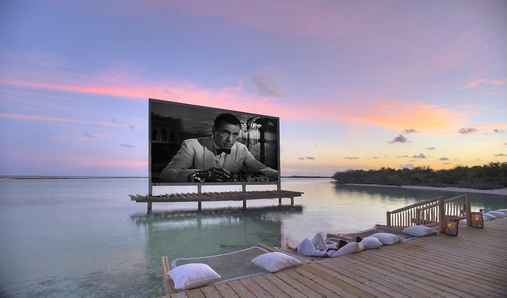 Soneva Jani Maldives Cinema Paradiso - beach cinema