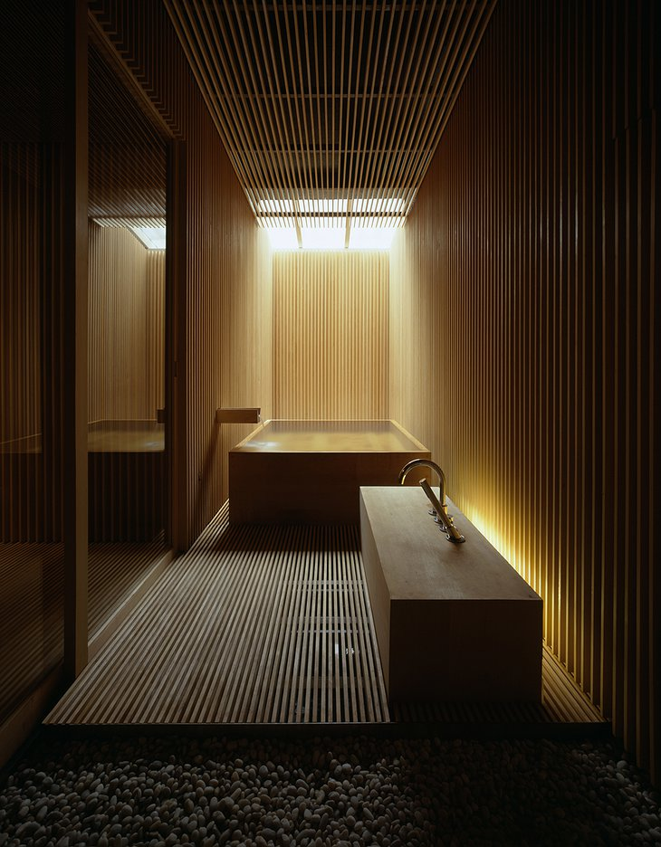Traditional Japanese Bamboo Bathroom