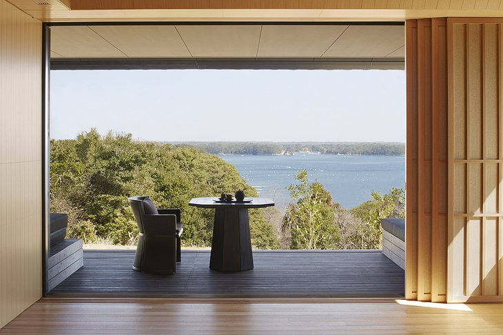 Amanemu suite terrace with sea view