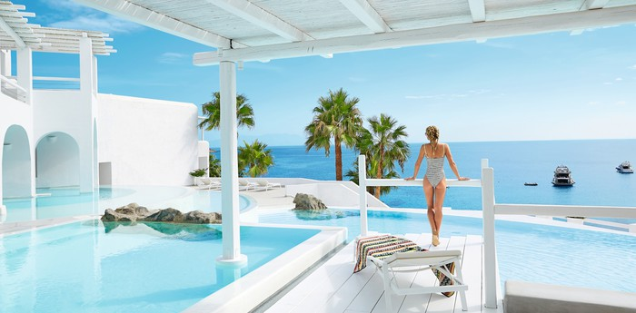 Mykonos Blu - Pure white luxury
