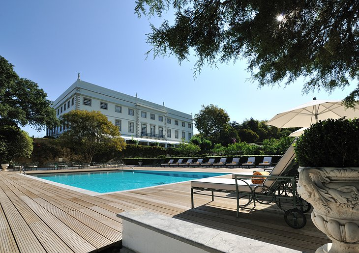 Sintra Castle Hotel and the swimming pool