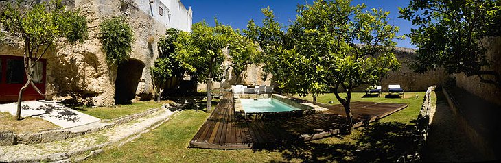 Masseria Torre Coccaro hotel garden with swimming pool