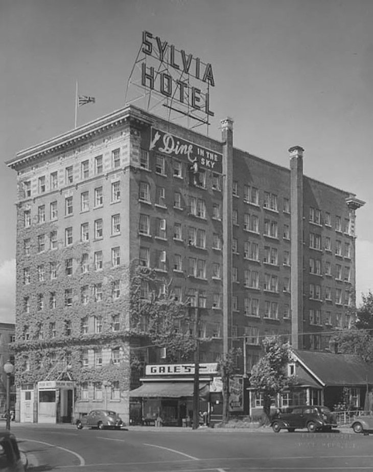 Historical photo of the The Sylvia Hotel