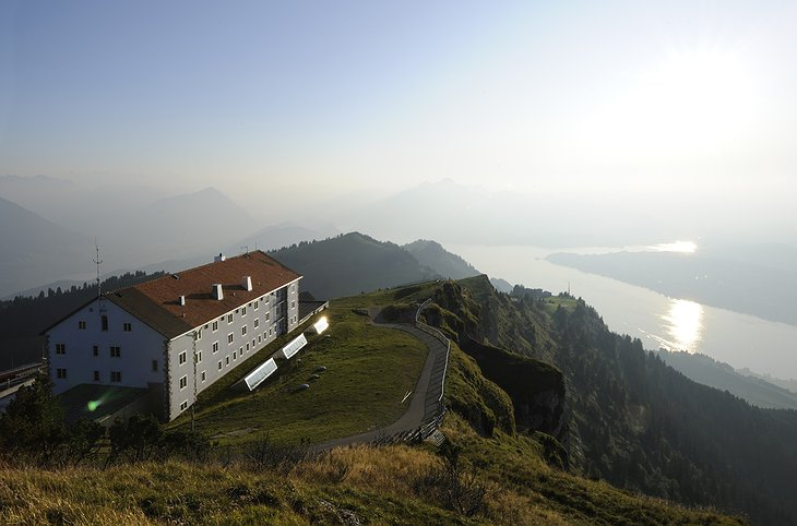 Rigi-Kulm Hotel from above