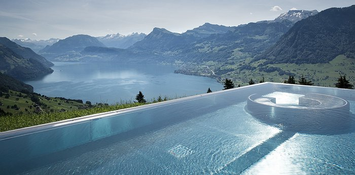 Hotel villa honegg - Infinity pool europe ...