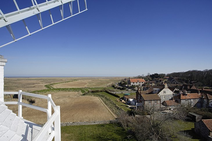 View on Cley village from the top of Cley Windmill