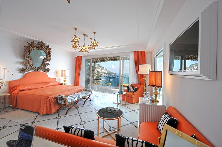Il San Pietro di Positano orange room with sea view