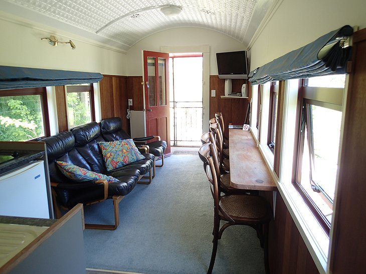 The Waitomo Express interior